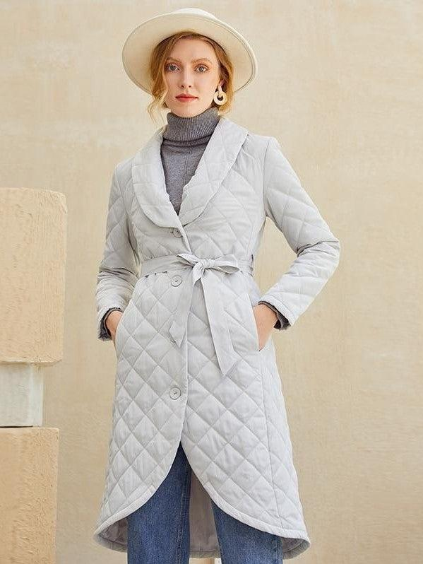 manteau boheme gris clair star