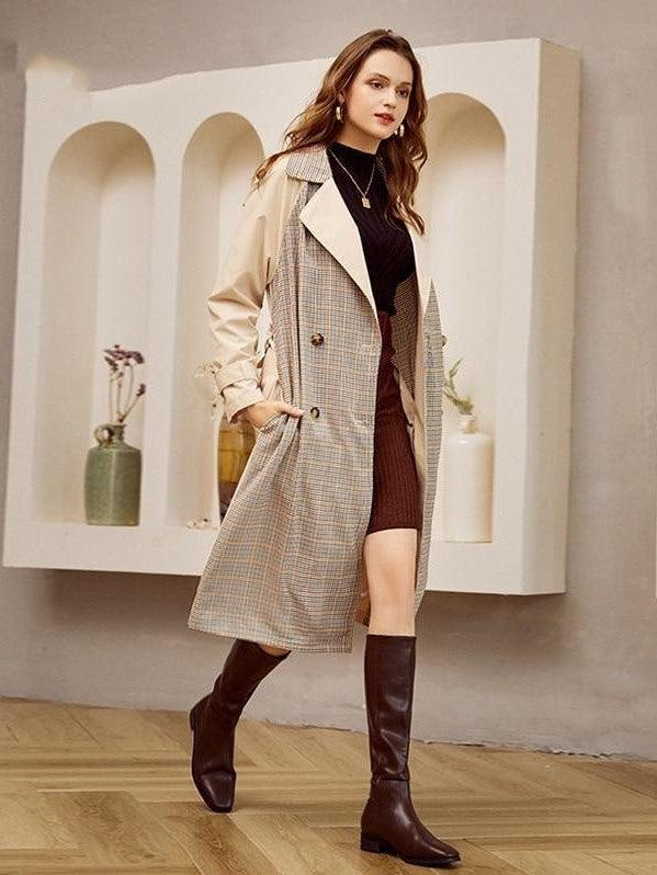 manteau boheme long luxe