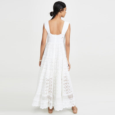 Robe Blanche Chic Bretelle Large 2019