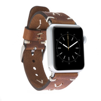 Omega Leather Watch Slim Strap for Apple Watch