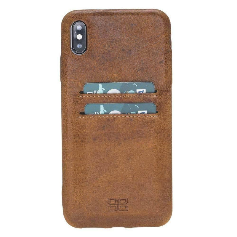 Leather Ultra Cover with Credit Card Slots for Apple iPhone XS Max