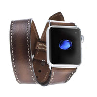 Double Tour Leather Watch Strap for Apple Watch 38mm / 40mm