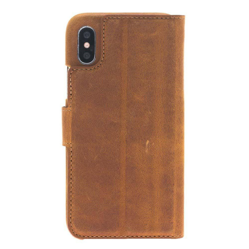 F360 Magnetic Detachable Leather Wallet Case for Apple iPhone X / iPhone XS
