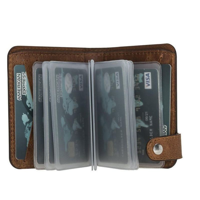 Oscar Leather Card Holder Wallet antic brown