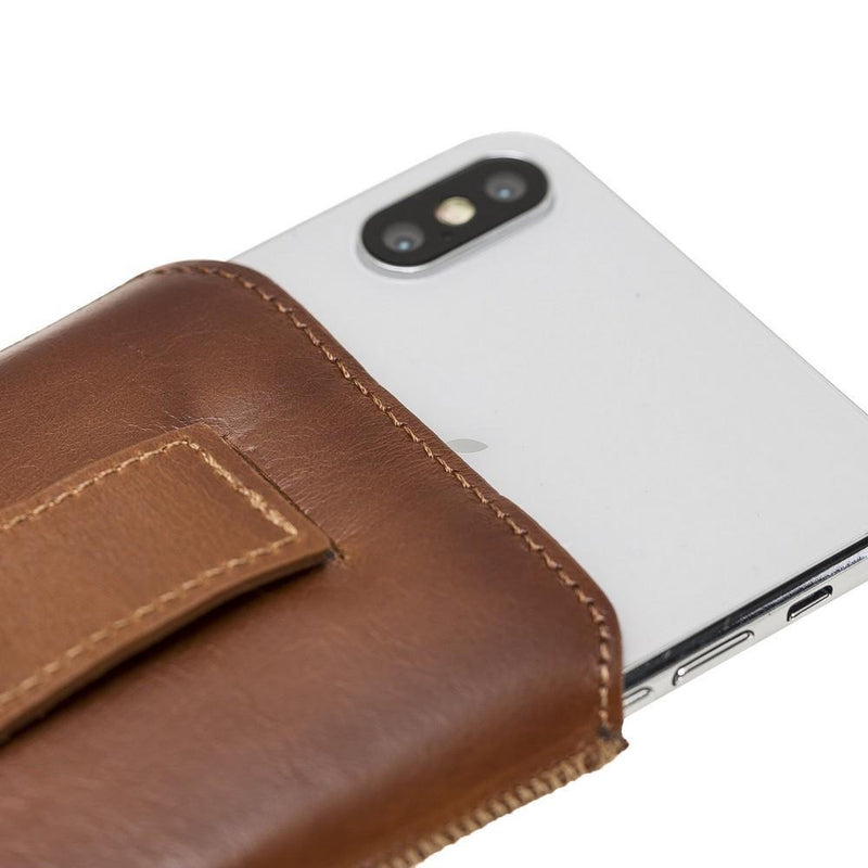 Multi Leather Case for iPhone 6 - 7 - 8 Plus, XS MAX and Samsung Galaxy S9 Plus, S10 Plus