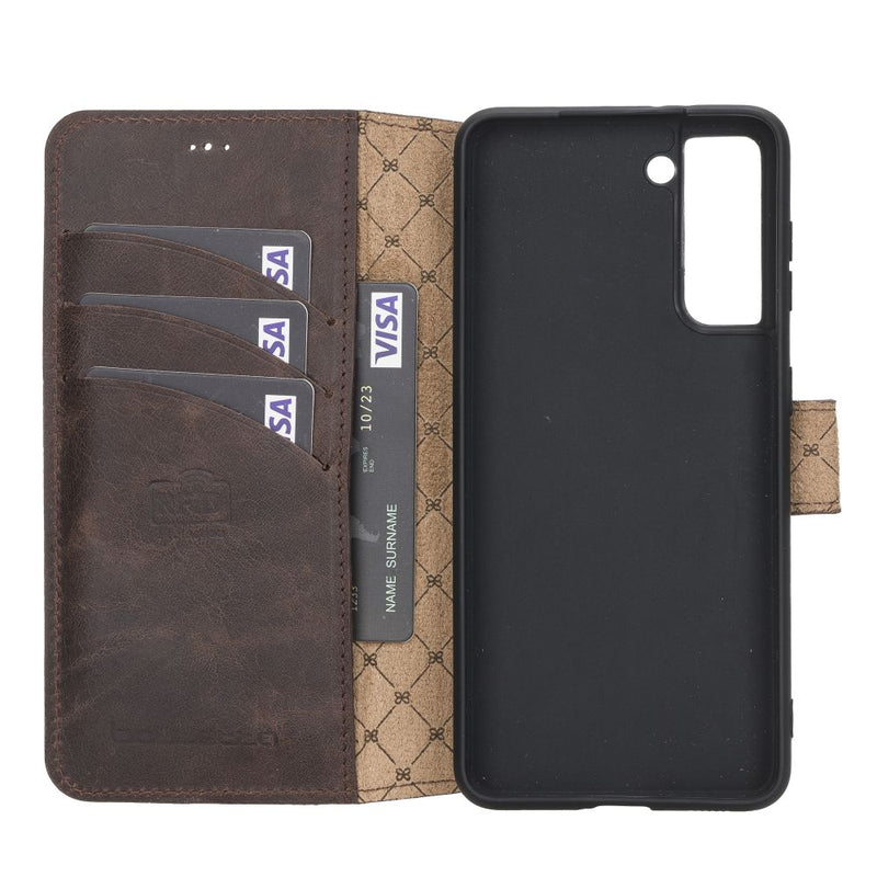 Samsung Galaxy S21 Leather Cases | Wallet Follio with ID Slot Model