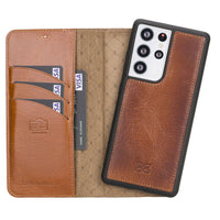 Samsung Galaxy S21 Ultra Leather Cases | Magnetic Detachable Wallet