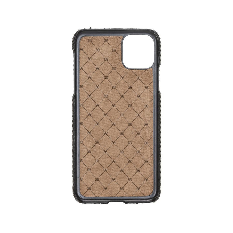 Ultimate Jacket Leather Case for iPhone 12 Pro Max | Snake Leather - Black