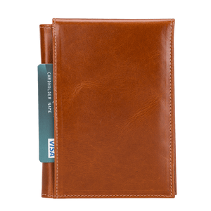 Alexis Leather Passport Holder For Mens