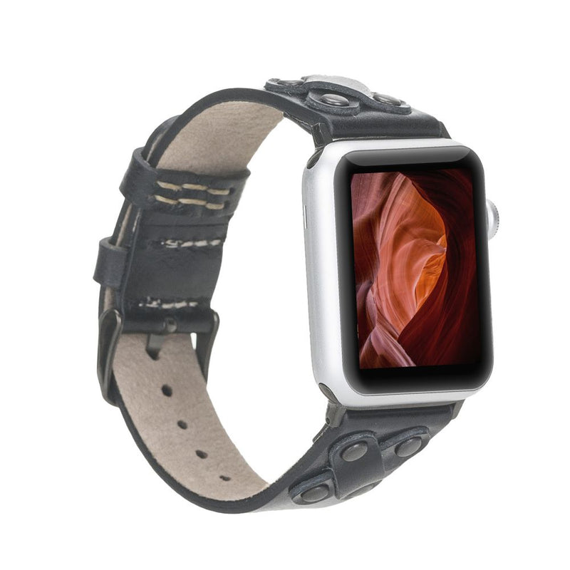 Apple Watch Leather Band 38-40mm/ 42-44mm | Cross Style - Black Cross