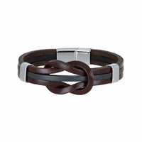 Bouletta Leather Wristband - Strip Knotted