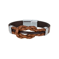Bouletta Leather Wristband - Tressed Knotted