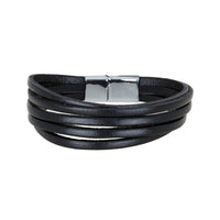 Bouletta Leather Wristband - Multiple Strip