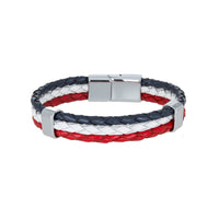 Bouletta Leather Wristband - Triple Color