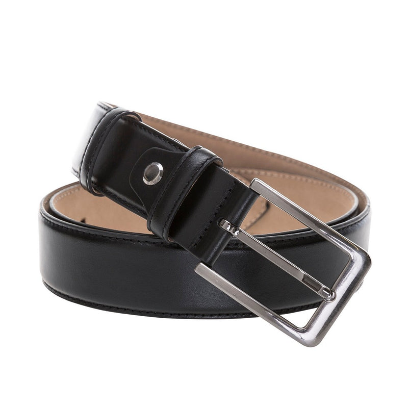 Classic Leather Belt-Silver Buckle