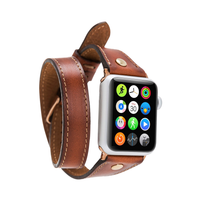 Double Tour Slim Leather Watch Strap for Apple Watch 42mm / 44mm