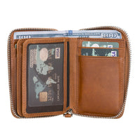 Elvis Leather Credit Card Holder - Zip Wallet Type