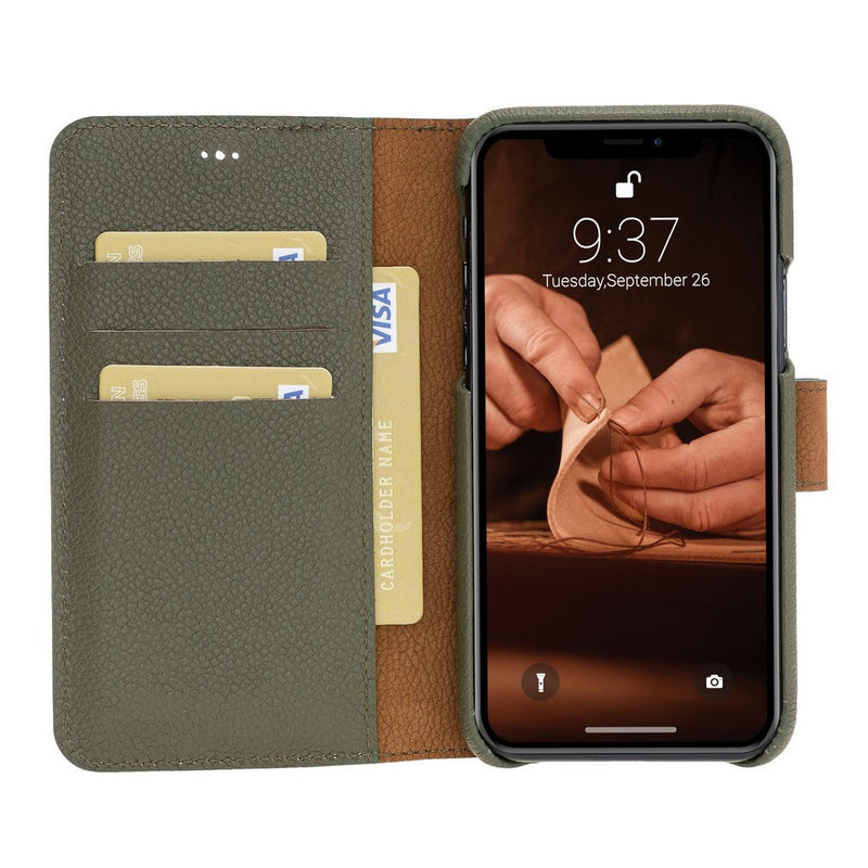 F360 Magnetic Detachable Leather Wallet Case for Apple iPhone 11 Pro Max 6.5""