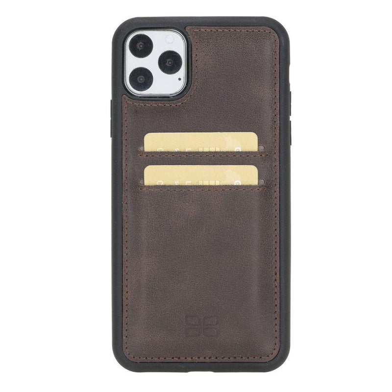 Flex Cover Back Leather Case with Card Holder for Apple iPhone 11 Pro Max 6.5""