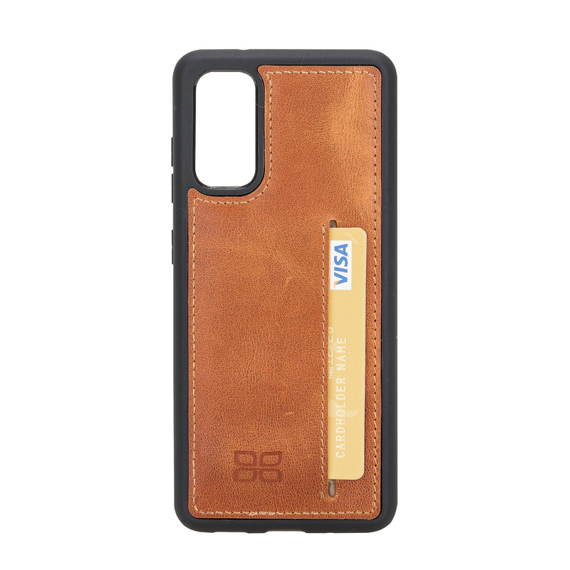 Flex Cover Back Leather Case with Card Holder for Samsung Galaxy S20