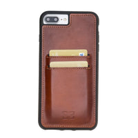 Flex Cover Back Leather Case with Card Holder for Apple iPhone 7 Plus / 8 Plus