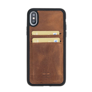 Flex Cover Back Leather Case with Card Holder for Apple iPhone X/XS