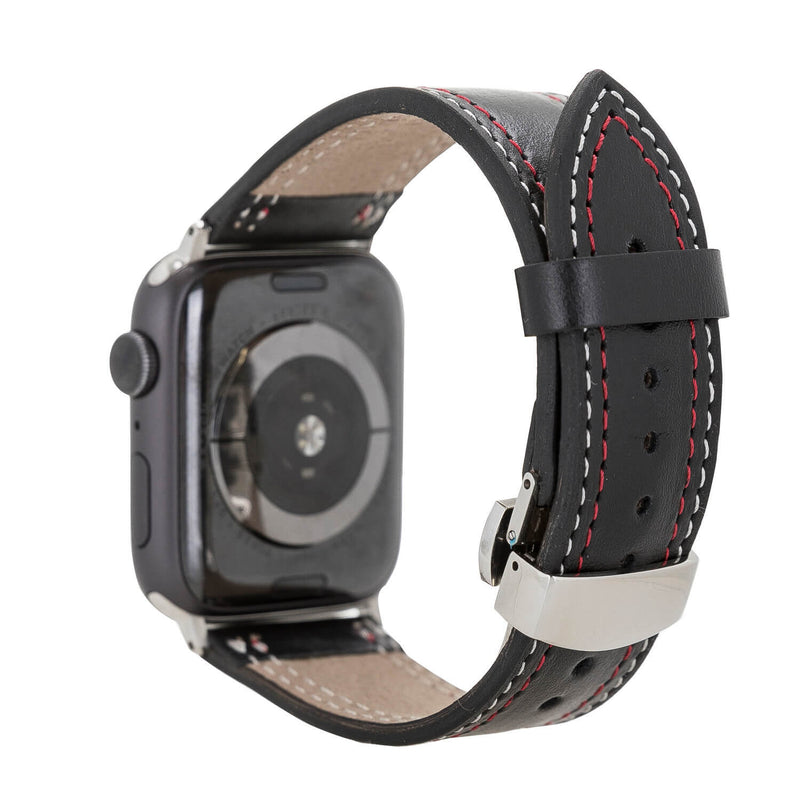 Stainless Steel Leather Watch Strap for Apple Watch 42mm / 44mm