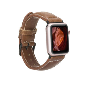 Leather Apple Watch Bands - NM1 Classic Stitched