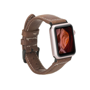 Leather Apple Watch Bands - NM4 Classic Stitched