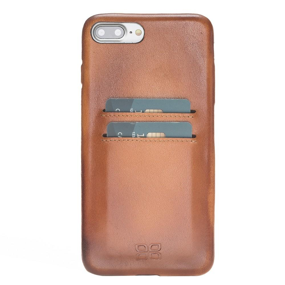 Leather Ultra Cover with Credit Card Slots for iPhone 7 Plus / iPhone 8 Plus