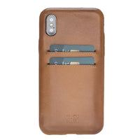 Leather Ultra Cover with Credit Card Slots for iPhone X / iPhone XS