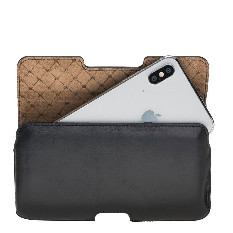 Lycia Belt Clip Leather Case for iPhone 6-7-8 Plus, XS MAX and Samsung Galaxy S9 Plus, S10 Plus