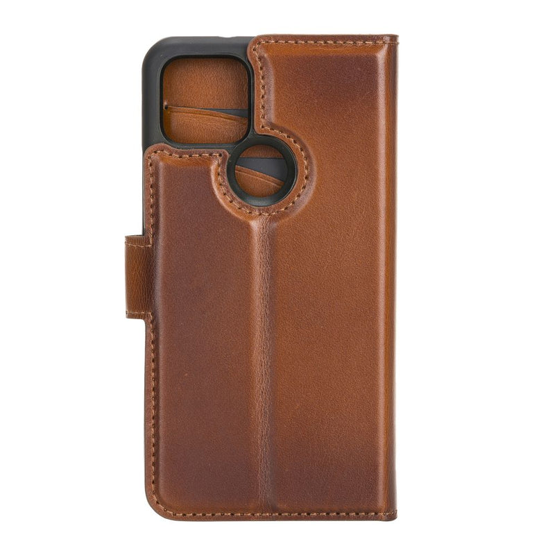Google Pixel 5 Leather Cases - Magnetic Detachable with RFID Protector