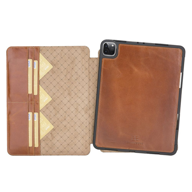 "Eto Magnetic Detachable Leather Wallet Case for iPad Pro 12.9"" 2020"
