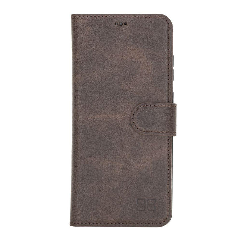 Magnetic Detachable Leather Wallet Case with RFID Blocker for Samsung Galaxy S20 Plus