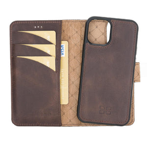 Magnetic Detachable Leather Wallet Case for Apple iPhone 12 5.4""