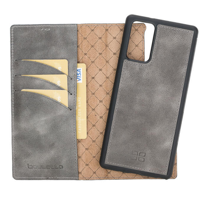 Magnetic Detachable Leather Wallet Case for Samsung Note 20