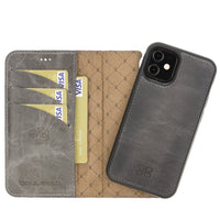 Magnetic Detachable Leather Wallet Case with RFID Blocker for Apple iPhone 12 Mini 5.4""
