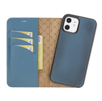 Magnetic Detachable Leather Wallet Case with RFID Blocker for Apple iPhone 12 & Pro 6.1""