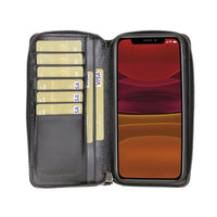 Pouch Magnetic Detachable Leather Wallet Case with RFID Blocker for Apple iPhone 12 Pro Max 6.7""