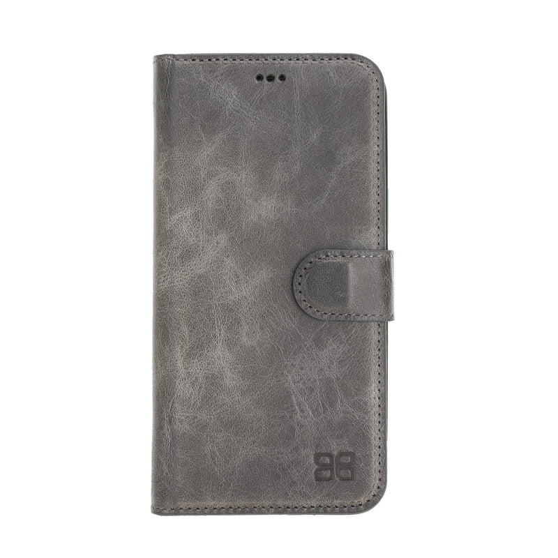 Magnetic Detachable Leather Wallet Case with RFID Blocker for Apple iPhone 12 Pro Max 6.7""