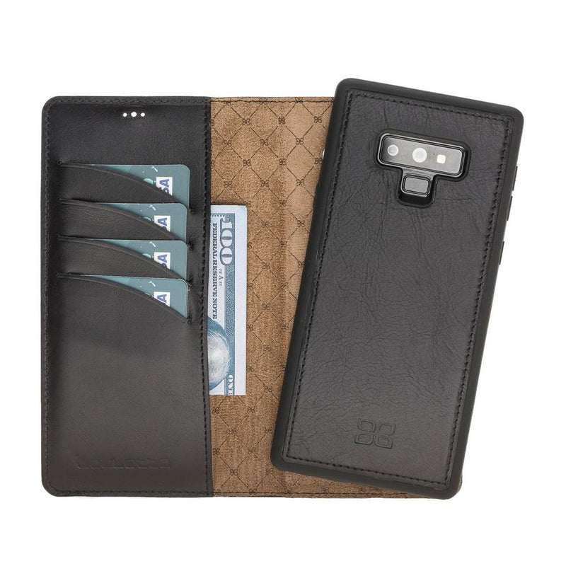 Magnetic Detachable Leather Wallet Case for Samsung Note 9