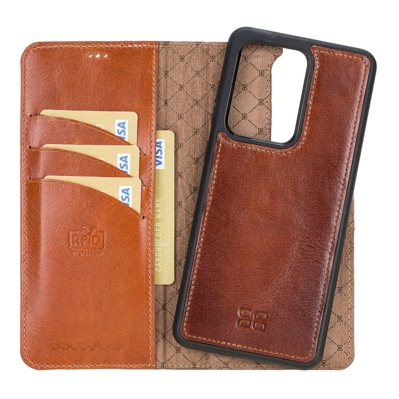 Magnetic Detachable Leather Wallet Case with RFID Blocker for Samsung Galaxy S20 Ultra