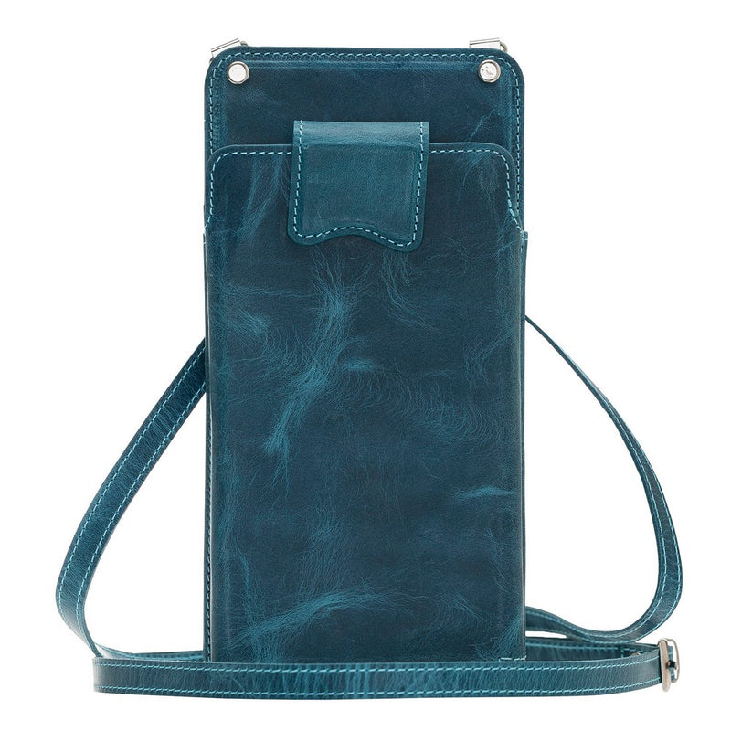 Marlo Crossbody Leather Wallet Case with RFID Blocker for Phones Up to 6.5""