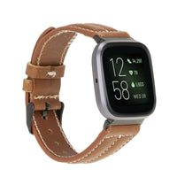 Leather Fitbit Watch Bands - NM3 Classic Stitched