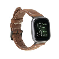 Leather Fitbit Watch Bands - NM4 Classic Stitched