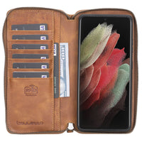 Samsung Galaxy S21 Ultra Leather Case | Pouch Wallet Case