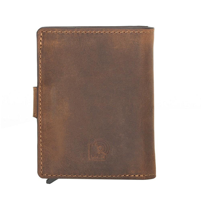 Palermo Mechanical Leather Card Holder Wallet