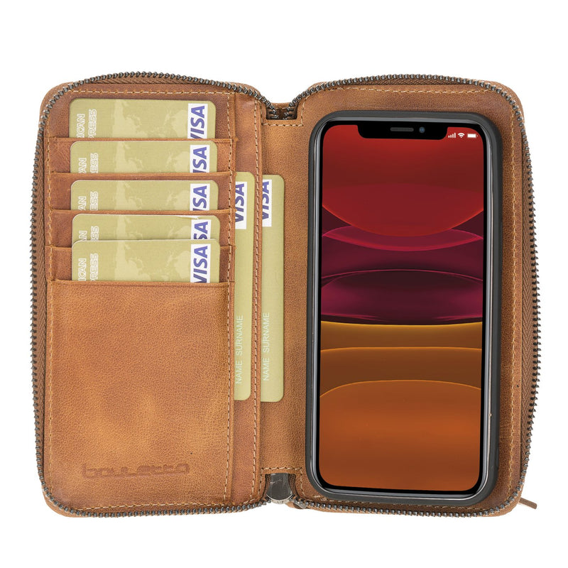 Pouch Magnetic Detachable Leather Wallet Case with RFID Blocker for Apple iPhone 12 Mini 5.4""
