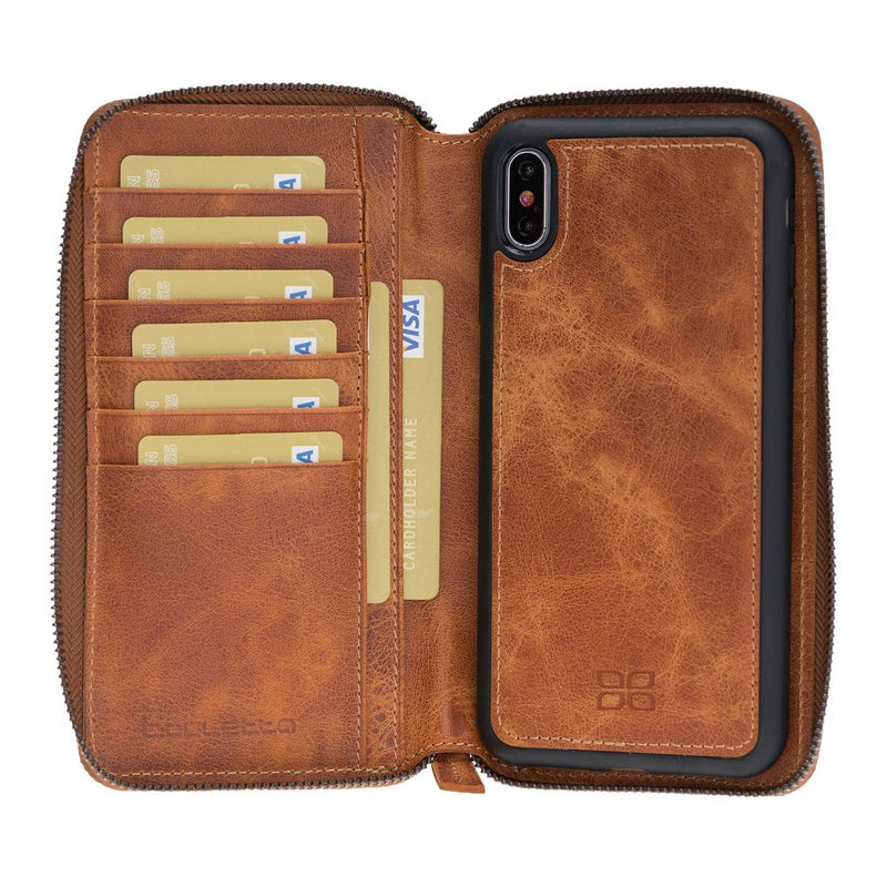 Pouch Magnetic Detachable Leather Wallet Case for Apple iPhone XS Max